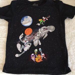 Space Jam 90s Cartoon Movie Tee Shirt Bugs Bunny